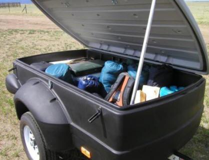 Pulmor Enclosed Small Luggage Trailer Camping Trailer